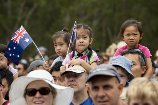 Crowds during Australia Day 2017