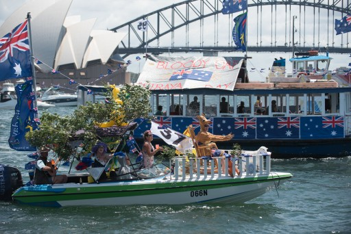 "1st place ($1000) awarded to ""It's Alive"" at the Australia Day Harbour Parade in 2016"