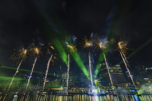 Australia Day Spectacular in Cockle Bay, Darling Harbour. Photo courtesy of Property NSW.
