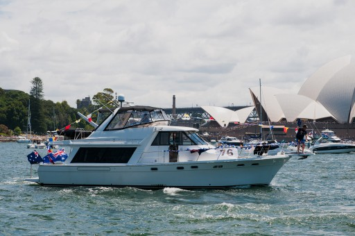 """Cest La Vie"" at the Australia Day Harbour Parade in 2016"