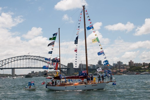 """Binda"" at the Australia Day Harbour Parade in 2016"