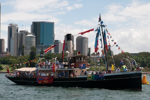 """Waratah"" at the Australia Day Harbour Parade in 2016"