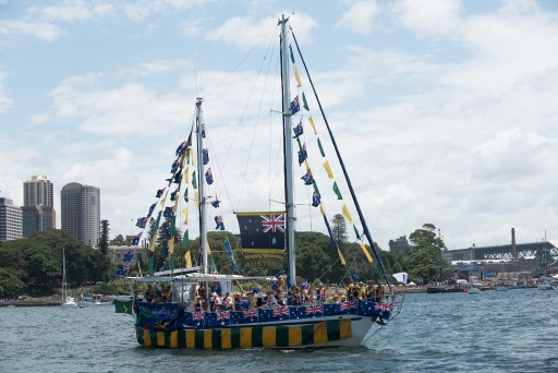 """Sydney Sundancer"" at the Australia Day Harbour Parade in 2016"