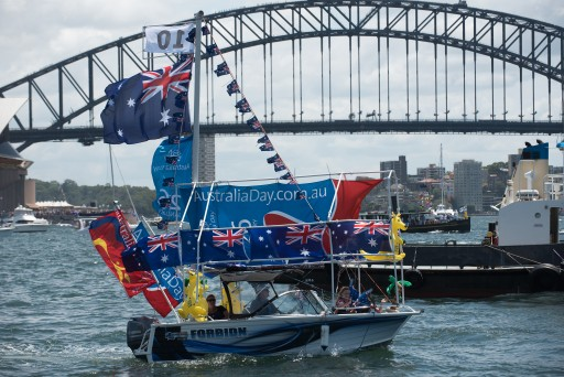 """Forbidn"" at the Australia Day Harbour Parade in 2016"