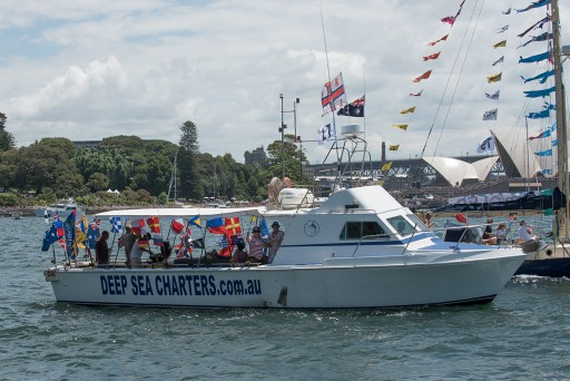 """Reef Runner"" at the Australia Day Harbour Parade in 2016"