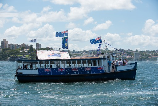 """Emerald Star"" at the Australia Day Harbour Parade in 2016"