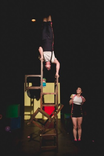 "Circus Trick Tease's action packed show ""Children are Stinky"""