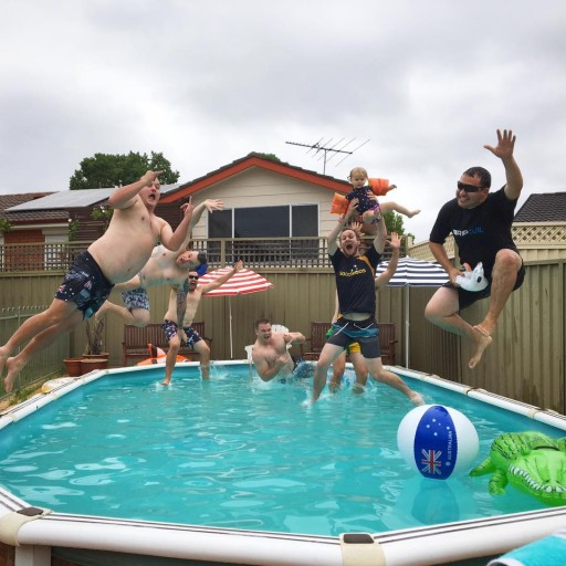 Australia Day pool party by Felicity West