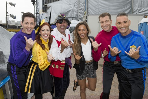 The Wiggles with Sally Fitzgibbons. Credit: Brendan Read